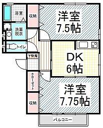 エスポワール富竹 C[3階]の間取り
