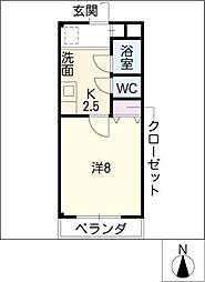 グランドール21[1階]の間取り
