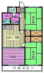 サニーハイツ浦和[302号室]の間取り