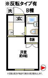 エンゼル西生田B棟[1階]の間取り