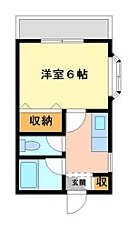 神奈川県川崎市高津区久地1の賃貸アパートの間取り