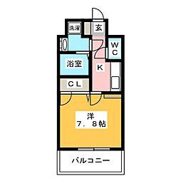 エンクレスト御供所[8階]の間取り