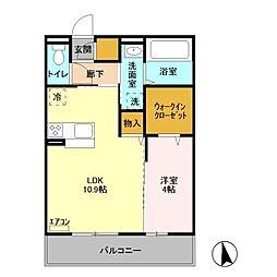 LeHuit E[3階]の間取り
