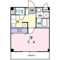 東京都世田谷区上用賀6丁目の賃貸アパートの間取り