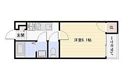 Osaka Metro谷町線 平野駅 徒歩7分の賃貸アパート 3階1Kの間取り