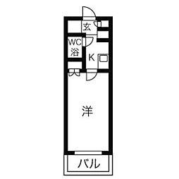 ニッシンハイツ千代田[5階]の間取り