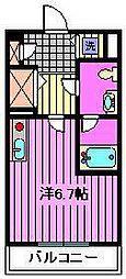 サンセール与野本町[3階]の間取り