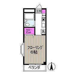 シャトレー東元町[2階]の間取り