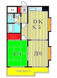 ロイヤルメゾンソフィア[4階]の間取り