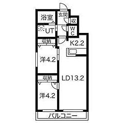 北海道札幌市北区北十三条西3丁目の賃貸マンションの間取り