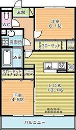 仮)D-ROOM蒲生[205号室]の間取り