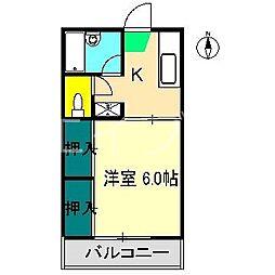 マーシーフラット[2階]の間取り