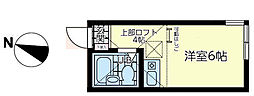 ユナイト 小田ミカーサ[2階]の間取り