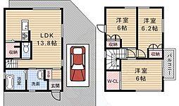 池田市旭丘2丁目戸建 1階3LDKの間取り