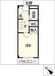 レインボーパレス[1階]の間取り