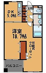 クレアセンターマーク[3階]の間取り