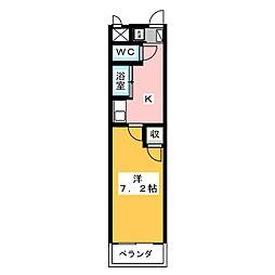 タートルヒルズ岡崎[1階]の間取り