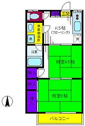 ふじハイツ[1階]の間取り