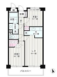 東京都大田区東糀谷1丁目の賃貸マンションの間取り