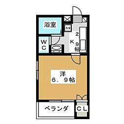 ハイエスト田町[8階]の間取り