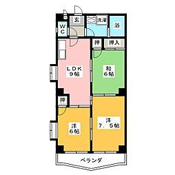 サン花水木[2階]の間取り