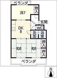 レヂデンス尾崎[1階]の間取り