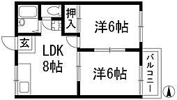 アロハ千種[2階]の間取り