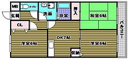ファミリーハウス須賀[1階]の間取り
