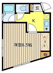 NKコーポ[1階]の間取り