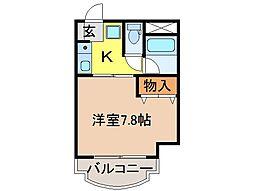 静岡県沼津市高島本町の賃貸マンションの間取り