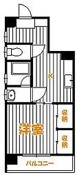 千葉県松戸市古ケ崎の賃貸マンションの間取り