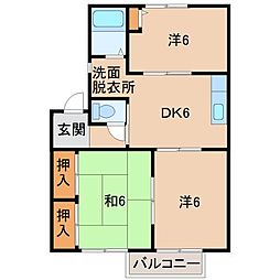 ディアスM[2階]の間取り