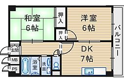 レジデンスマロン弐番館[4階]の間取り