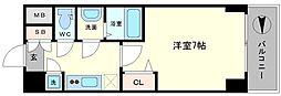 レジュールアッシュ難波MINAMI− II[7階]の間取り