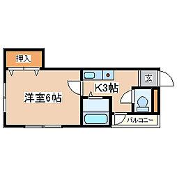 兵庫県神戸市須磨区須磨浦通3丁目の賃貸マンションの間取り