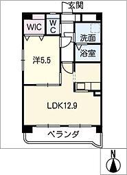 第9渡邊ビル[4階]の間取り