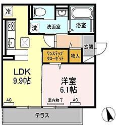 (仮)D−room沖浜町居屋敷[101号室]の間取り