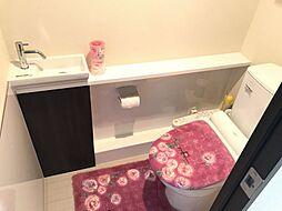 清潔感があるトイレです。