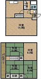 [タウンハウス] 静岡県浜松市中区高林4丁目 の賃貸【静岡県 / 浜松市中区】の間取り