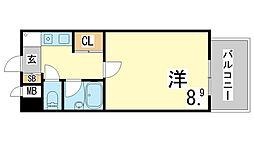 兵庫県神戸市須磨区飛松町2丁目の賃貸マンションの間取り
