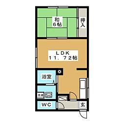 エスポワール橋本[1階]の間取り