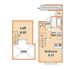 北軽ハウス[2階]の間取り