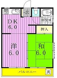 村田ハイツ[103号室]の間取り