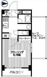 東京都杉並区桃井1丁目の賃貸マンションの間取り