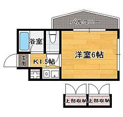ダイナコート平尾山荘通り[4階]の間取り