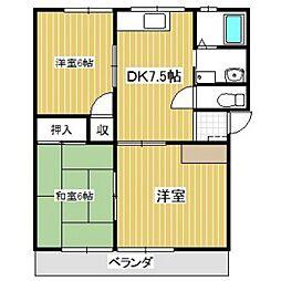 夢ハウス[102号室]の間取り