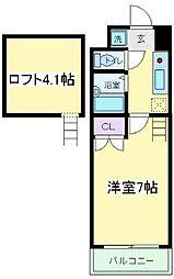 コスモコート大南[4階]の間取り