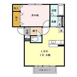 セジュールラシュレI[2階]の間取り