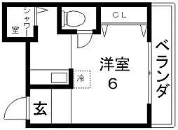ベルハイム小阪[101号室号室]の間取り
