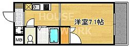 フォスマット松ヶ崎[308号室号室]の間取り